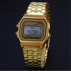 preiswerte Herrenuhren-Herrn Kleideruhr Armband-Uhr Armbanduhr Digital Armbanduhren für den Alltag Edelstahl Band digital Charme Silber / Gold - Silber Golden