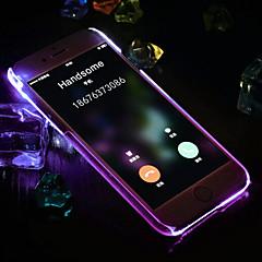 Недорогие Кейсы для iPhone 6 Plus-Кейс для Назначение Apple iPhone 6 iPhone 6 Plus Мигающая LED подсветка Кейс на заднюю панель Сплошной цвет Твердый ПК для iPhone 6s Plus