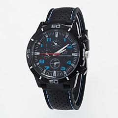 お買い得  メンズ腕時計-男性用 クォーツ リストウォッチ / カジュアルウォッチ シリコーン バンド カジュアル ブラック