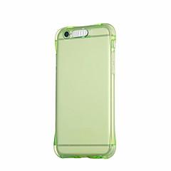 Недорогие Кейсы для iPhone 6 Plus-Кейс для Назначение Apple iPhone 6 iPhone 6 Plus Мигающая LED подсветка Кейс на заднюю панель Сплошной цвет Мягкий ТПУ для iPhone 6s Plus