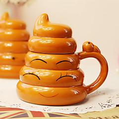 1db kreatív hóbort arany kaki csésze kétezer kerámia személyiség csésze (random stílus)
