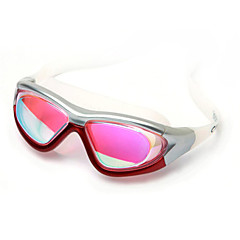 YUKE Swimming Goggles Women's / Men's / Unisex Anti-Fog / Waterproof / Adjustable Size / Anti-UV / Shatter-proof Silica Gel PCBlack /