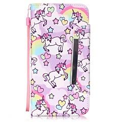 Для Кейс для iPhone 6 / Кейс для iPhone 6 Plus Кошелек / Бумажник для карт / со стендом / Флип Кейс для Чехол Кейс для Плитка Твердый
