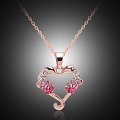 preiswerte Halsketten-Damen Kristall Anhängerketten - Krystall, Strass, vergoldet Herz Golden Modische Halsketten Für Party, Danke, Alltag