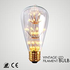 お買い得  LED 電球-1個 1.5 W 140-180 lm ST64 33 LEDビーズ SMD 装飾用 温白色 110-130 V / 1個 / RoHs