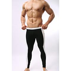 Homens Leggings de Corrida Camiseta Segunda Pele Leggings de Ginástica Secagem Rápida Permeável á Humidade Alta Respirabilidade