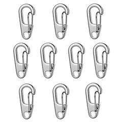 Fura d2 mini zinklegering sleutelhanger karabijnhaak - zwart / zilver (10st)