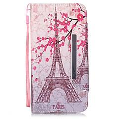 Для Кейс для iPhone 6 / Кейс для iPhone 6 Plus Бумажник для карт / со стендом / Флип Кейс для Чехол Кейс для Эйфелева башня Твердый
