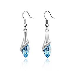 preiswerte Ohrringe-Damen Kristall Tropfen-Ohrringe - Schmetterling, Tier Rose / Grün / Blau Für Party / Alltag / Normal