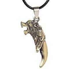 Недорогие Ожерелья-Муж. Ожерелья с подвесками  -  Кожа Eagle, Животный принт Серебряный, Бронзовый Ожерелье Назначение Спорт