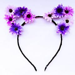 Blomster Vintage Hårbånd,Stof Legering Regnbue