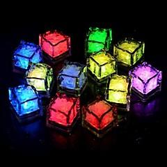 billige LED & Belysning-24stk blå / rød / grøn / lyserød / gul / rgb / hvid isterter ledet lysfest bryllupsdag restaurant