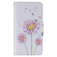 Для Кейс для Sony / Xperia Z5 Кошелек / Бумажник для карт / со стендом / Флип Кейс для Чехол Кейс для Одуванчик Твердый Искусственная кожа