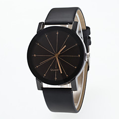 preiswerte Damenuhren-Damen Quartz Armbanduhr Imitation Diamant PU Band Elegant / Modisch Schwarz
