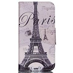 σταυρό μοτίβο PU δερμάτινη θήκη πορτοφόλι για Wiko ουράνιο τόξο μαρμελάδα 4g - Παρίσι Πύργος του Άιφελ