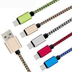 1M Durable Braided Micro USB Charger cable Cord for Samsung HTC Android Phone