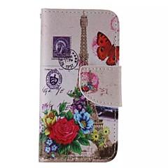 Недорогие Кейсы для iPhone 5с-iphone 7 плюс цветок башни окрашены пу случай телефона для Iphone 6с 6 плюс SE 5с 5с 5 4s 4