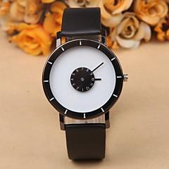 Herre Armbåndsur Unik Creative Watch Quartz Læder Bånd Sort Hvid