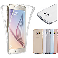 billige Galaxy S6 Etuier-Etui Til Samsung Galaxy Samsung Galaxy S7 Edge Transparent Fuldt etui Helfarve TPU for S7 edge S7 S6 edge S6