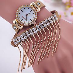 お買い得  レディース腕時計-女性用 リストウォッチ クォーツ ホット販売 レザー バンド ハンズ チャーム ファッション 模擬ダイヤモンドウォッチ ブラック / 白 / レッド - ピンク ゴールデン ライトブルー
