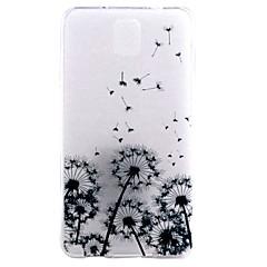 billige Galaxy Note 5 Etuier-For Samsung Galaxy Note Transparent Mønster Etui Bagcover Etui Mælkebøtte TPU for Samsung Note 5 Note 4 Note 3