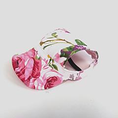 お買い得  犬用ウェア&アクセサリー-ネコ 犬 バンダナ&帽子 犬用ウェア フラワー ピンク ナイロン コスチューム ペット用 女性用 ホリデー