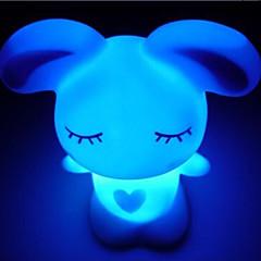 abordables Luces de Interior-creativa del conejo del amor de acrílico de colores que cambia de color la noche light y la decoración preciosa casa