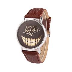 preiswerte Damenuhren-Damen Quartz Armbanduhr Armbanduhren für den Alltag PU Band Charme Kleideruhr Modisch Schwarz Weiß Blau Rot Braun Rosa Lila Rose