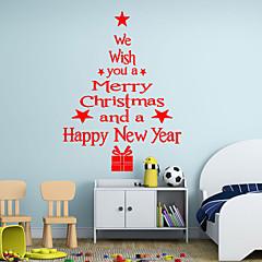 크리스마스 / 워드&인용구(부호) / 휴일 / 모양 벽 스티커 플레인 월스티커,vinyl 43*24cm