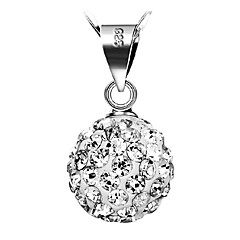 お買い得  ネックレス-女性用 ペンダントネックレス  -  純銀製, シルバー 誕生石です. シルバー ネックレス 用途 日常, カジュアル