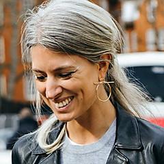 Női Beszúrós fülbevalók Francia kapcsos fülbevalók Méretes ékszerek Divat Európai jelmez ékszerek Réz Circle Shape Ékszerek Kompatibilitás