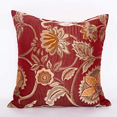 1kpl 45 * 45cm punainen lehtipattern tyynyliina sisustuksessa