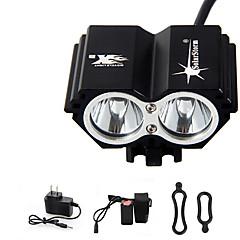 Otsalamput Pyöräilyvalot Ajovalo LED 5000 lm 4.0 Tila Cree XM-L T6 Akulla ja laturilla Ladattava Vedenkestävä Hätä Pyöräily