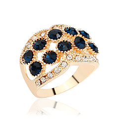 halpa Sormukset-Naisten Tyylikkäät sormukset Kristalli Muoti Gemstone Metalliseos Korut Käyttötarkoitus Party Päivittäin Kausaliteetti