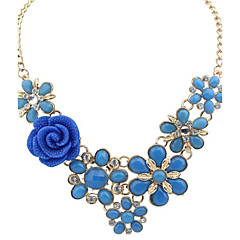 preiswerte Halsketten-Damen Perle Anhängerketten / Statement Ketten - Erklärung, Europäisch, Modisch Hellblau, Regenbogen, Königsblau Modische Halsketten Schmuck Für Party
