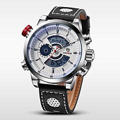 billige Herre Ure-WEIDE Herre Armbåndsur Digital Watch Quartz Digital Japansk Quartz LCD Kalender Kronograf Vandafvisende Dobbelte Tidszoner alarm Læder