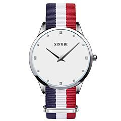 SINOBI Женские Модные часы Повседневные часы Защита от влаги Кварцевый Материал Группа Синий