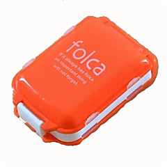お買い得  防災&サバイバル用品-Mini Portable Folding with Three Separate Sections of Eight Grid Medicine Drug Pill Box Storage Container Random Color