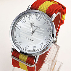 cheap Watch Deals-Men's Quartz Wrist Watch Casual Watch Leather Band Charm Black White Blue Silver Red Orange Yellow Multi-Colored