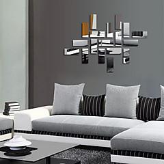 baratos -Moda Fantasia 3D Adesivos de Parede Autocolantes de Parede Espelho Autocolantes de Parede Decorativos Autocolantes de Casamento Material