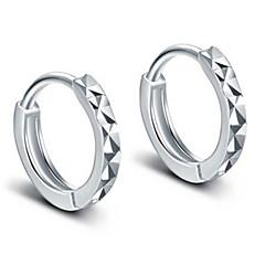Męskie Damskie Kolczyki na sztyft Kolczyki koła minimalistyczny styl Ślubny Srebro standardowe Stop Biżuteria Biżuteria Na Ślub Impreza