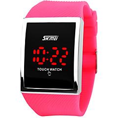 preiswerte Tolle Angebote auf Uhren-Herrn Sportuhr / Digitaluhr Touchscreen / LED Silikon Band Luxus / Modisch Silber / Edelstahl