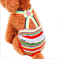 お買い得  猫の服-ネコ 犬 パンツ 犬用ウェア 縞柄 虹色 コットン コスチューム ペット用 コスプレ 結婚式