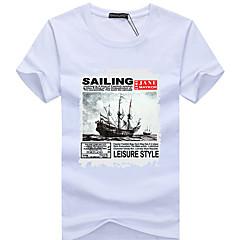 남성용 하이킹 T-셔츠 통기성 땀 흡수 기능성 소재 티셔츠 탑스 용 캠핑 & 하이킹 등산 레저 스포츠 사이클링/자전거 달리기 여름 XL XXL XXXL XXXXL 5XL
