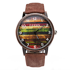 Men's Wrist watch Quartz Leather Band Blue Brown Green Yellow