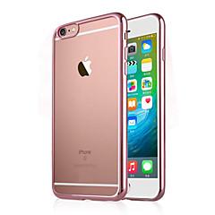 Недорогие Кейсы для iPhone 6 Plus-Кейс для Назначение Apple iPhone 6 iPhone 6 Plus Покрытие Прозрачный Кейс на заднюю панель Сплошной цвет Мягкий ТПУ для iPhone 7 Plus