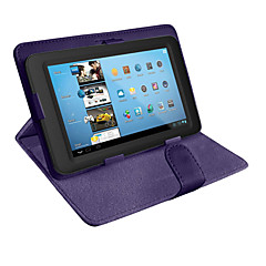 cheap Tablet Cases-Case For Universal Full Body Cases Cases with Stand Full Body Cases Solid Color Hard PU Leather for