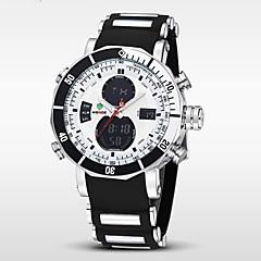 WEIDE Herre Armbåndsur Digital Watch Quartz Digital Japansk Quartz LCD Kalender Kronograf Vandafvisende Dobbelte Tidszoner alarm Gummi