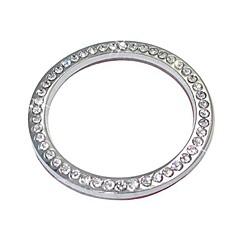 お買い得  カーアクセサリー-ziqiao自動装飾アクセサリーカーボタンスイッチボタンダイヤモンドリング