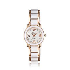 Dames Modieus horloge Kwarts Compass Legering Band Bladeren Zwart Wit Wit Zwart